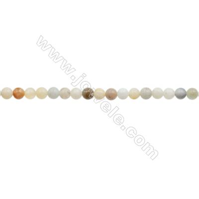 3mm Natural Mix Amazonite Beads Strand  Round  hole 0.7mm  about 131 beads/strand  15~16""