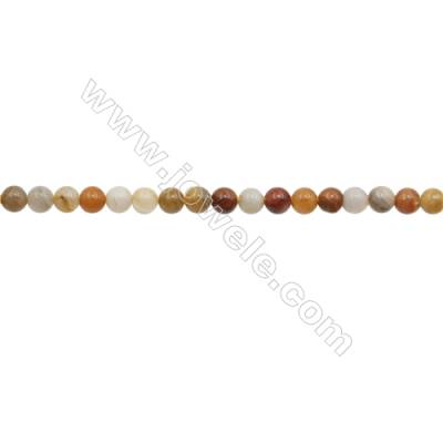 3mm Crazy Lace Agate Beads Strand  Round  hole 0.7mm  about 129 beads/strand  15~16""
