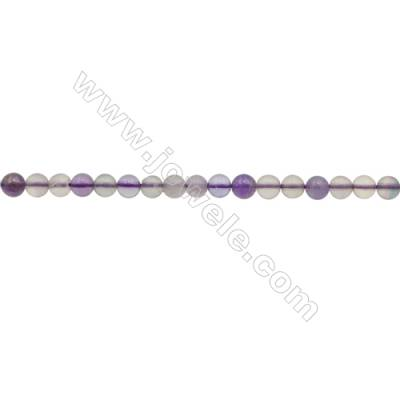 3mm Natural Mixed Crystal Loose Beads  Round  hole 0.7mm  about 131 beads/strand  15~16""