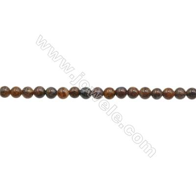 3mm Natural Tiger's Eye Beads Strand  Round  hole 0.7mm  about 132 beads/strand  15~16""