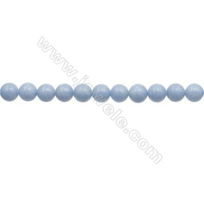 """10mm Natural Angelite Loose Beads Strand  Round  hole 1mm  about 40 beads/strand  15~16"""""""