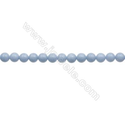 """8mm Natural Angelite Loose Beads Strand  Round  hole 1mm  about 50 beads/strand  15~16"""""""
