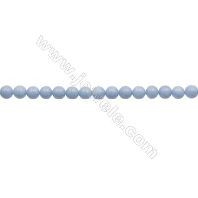 """6mm Natural Angelite Loose Beads Strand  Round  hole 0.8mm  about 66 beads/strand  15~16"""""""