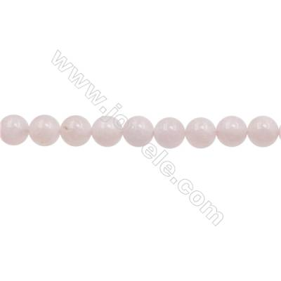 12mm Natural Morganite Beads Strand  Round  hole 1mm  about 33 beads/strand  15~16""