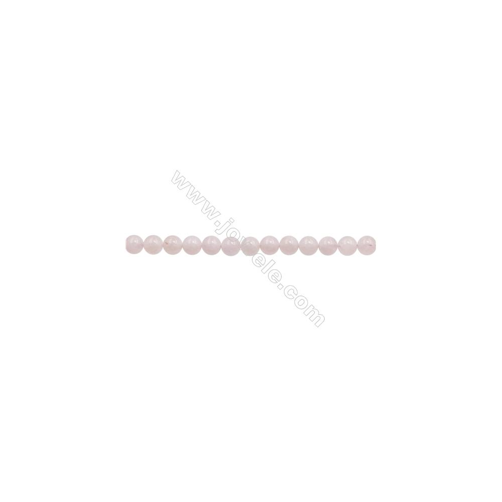 """8mm Natural Morganite Beads Strand  Round  hole 1mm  about 50 beads/strand  15~16"""""""