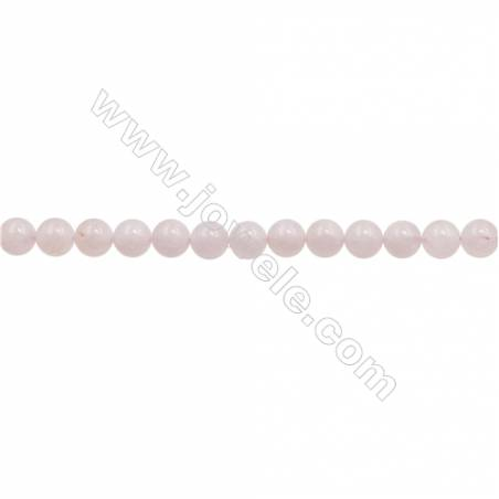 8mm Natural Morganite Beads Strand Round hole 1mm about 50 beads/strand  15~16