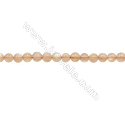 4mm Natural Sunstone Beads Strand  Round  hole 0.7mm  about 100 beads/strand  15~16""