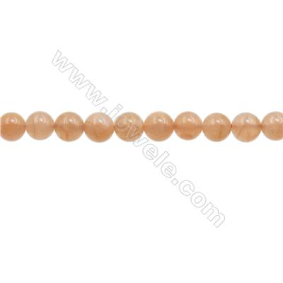 6mm Natural Sunstone Beads Strand  Round  hole 0.8mm  about 66 beads/strand  15~16""