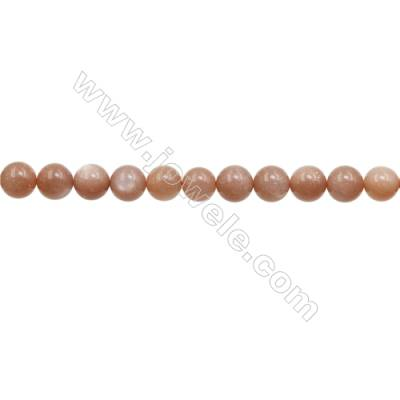 10mm Natural Sunstone Beads Strand  Round  hole 1mm  about 40 beads/strand  15~16""