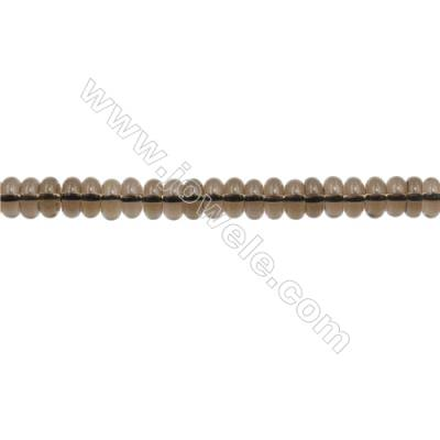 3x6mm Natural Smoky Quartz Beads Strand  Abacus  hole 1mm  about 135 beads/strand  15~16""