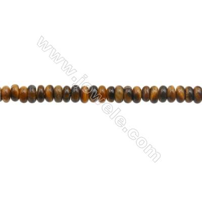3x4mm Natural Tiger Eye Loose Beads  Abacus  hole 1mm  about 135 beads/strand  15~16""