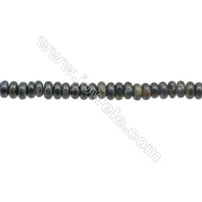 3x4mm Natural Blue Tiger Eye Beads Strand  Abacus  hole 1mm  about 140 beads/strand  15~16""