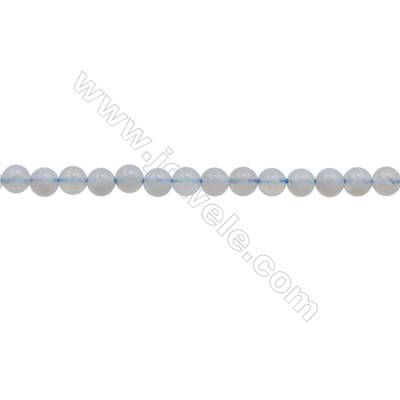 3mm Natural Blue Chalcedony Beads Strand  Round  hole 0.7mm  about 129 beads/strand  15~16""