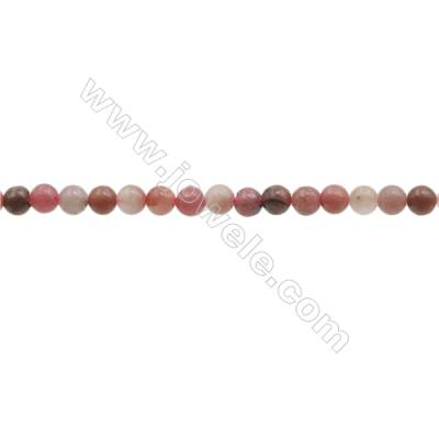 3mm Natural Rhodochrosite Beads Strand  Round  hole 0.7mm  about 131 beads/strand  15~16""
