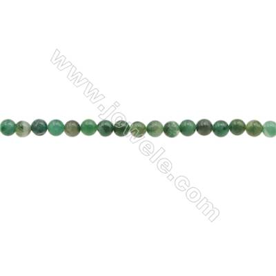 """3mm Natural African Jade Beads Strand  Round  hole 0.7mm  about 130 beads/strand  15~16"""""""