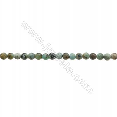 3mm Natural Turquoise Beads Strand  Round  hole 0.7mm  about 133 beads/strand  15~16""