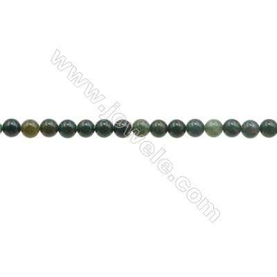 3mm Natural Bloodstone Beads Strand  Round  hole 0.7mm  about 130 beads/strand  15~16""