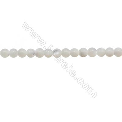 3mm Natural Moonstone Beads Strand  Round  hole 0.7mm  about 128 beads/strand  15~16""