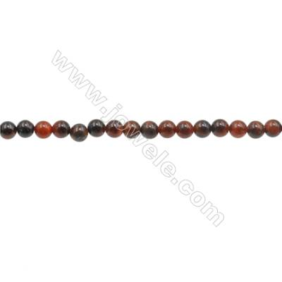 3mm Natural Red Tiger Eye Beads Strand  Round  hole 0.7mm  about 132 beads/strand  15~16""