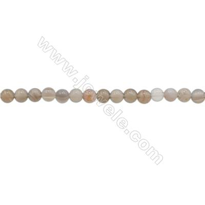 3mm Natural Gray Agate Beads Strand  Round  hole 0.7mm  about 130 beads/strand  15~16""