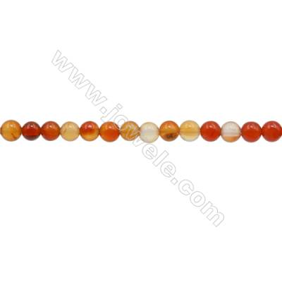 3mm Natural Carnelian Beads Strand  Round  hole 0.7mm  about 131 beads/strand  15~16""