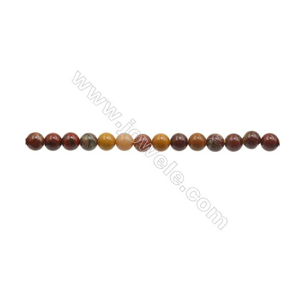3mm Natural Mookaite Beads Strand  Round  hole 0.7mm  about 130 beads/strand  15~16""