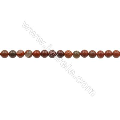 """3mm Natural Brecciated Jasper Beads Strand  Round  hole 0.7mm  about 131 beads/strand  15~16"""""""