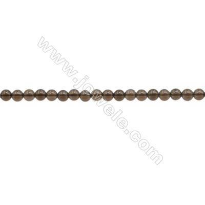 3mm Natural Smoky Quartz Beads Strand  Round  hole 0.7mm  about 135 beads/strand  15~16""