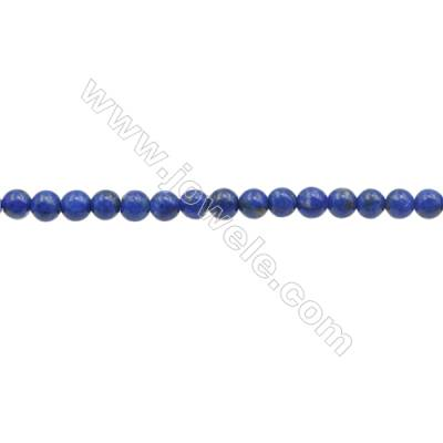 3mm Natural Lapis Lazuli Beads Strand  Round  hole 0.7mm  about 132 beads/strand  15~16""