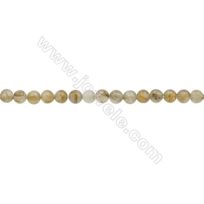 3mm Natural Labradorite Beads Strand  Round  hole 0.7mm  about 131 beads/strand  15~16""