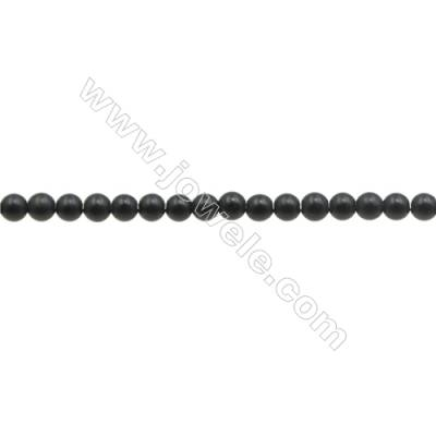 Matte  Hematite Beads Strand, Round, Diameter 3mm, Hole 0.7mm, about 134 beads/strand 15~16""