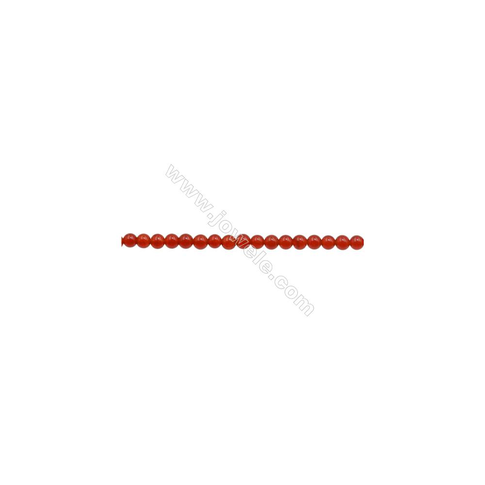 """3mm Natural Red Agate Beads Strand  Round  hole 0.7mm  about 135 beads/strand  15~16"""""""