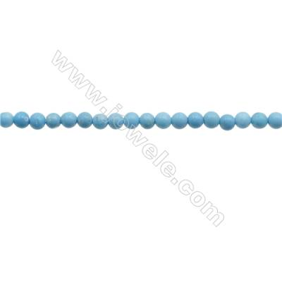 3mm Blue Turquoise Compound Beads Strand  Round  hole 0.7mm  about 132 beads/strand  15~16""