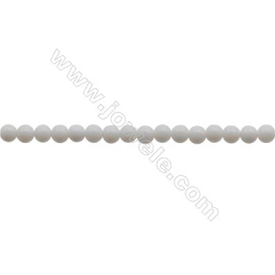 3mm Porcelain/Ceramic Beads Strand  Round  hole 0.7mm  about 130 beads/strand  15~16""