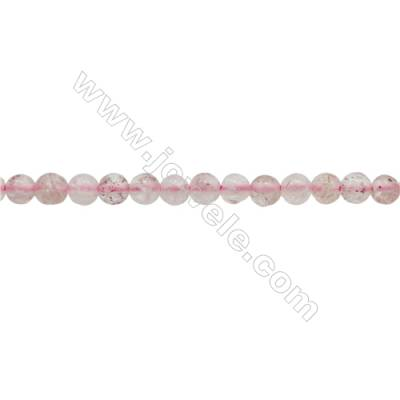 3mm Natural Strawberry Quartz Beads Strand  Round  hole 0.7mm  about 132 beads/strand  15~16""