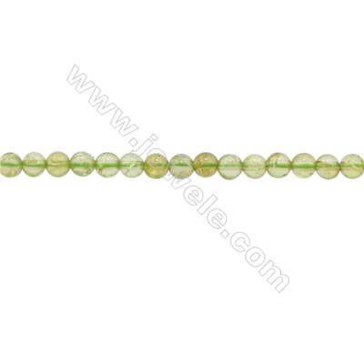 3mm Natural Peridot Beads Strand  Round  hole 0.7mm  about 134 beads/strand  15~16""
