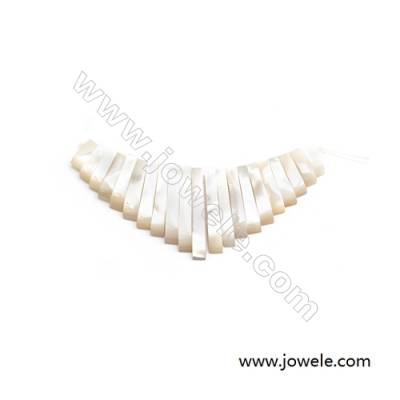 Focal  Natural Mother-of-pearl Shell x 1piece  32x74mm  Hole 1mm
