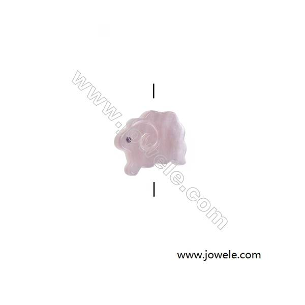 Pink mother-of-pearl shell small sheep beads, 11x14mm, hole 0.7mm, 15 beads/strand