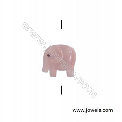 Little elephant designed pink mother-of-pearl shell beads, 9x11mm, hole 0.7mm, 15 beads/strand