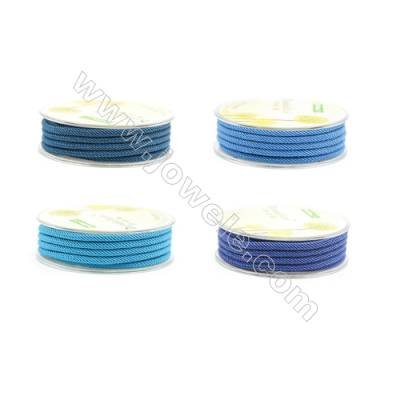 Blue Series Braided Acrylic Thread Elastic  Diameter 3mm  2 meter/roll