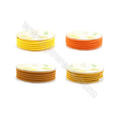 Orange (Yellow) Series Braided Nylon Thread  3mm  2 meter/roll