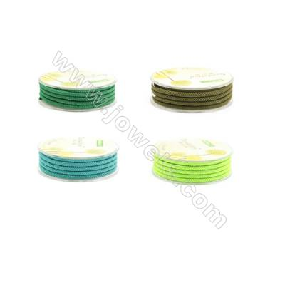 Green Series Braided Acrylic Thread  Elastic  Diameter 3mm  2 meter/roll