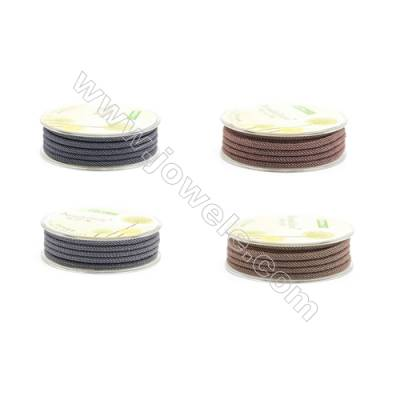 Grey (Black) Series Braided Acrylic Thread  Elastic  Diameter 3mm  2 meter/roll