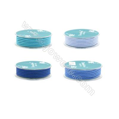 Blue Series Braided Nylon Thread  Elastic  Diameter 2.5mm  2.5 meter/roll