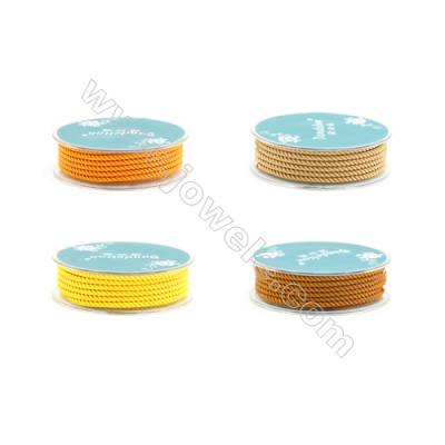Orange(Yellow) Series Braided Nylon Thread  Elastic  Diameter 2.5mm  2.5 meter/roll
