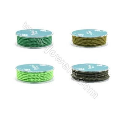 Green Series Braided Nylon Thread  Elastic  Diameter 2.5mm  2.5 meter/roll