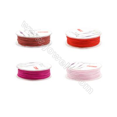Mixed Color Series Nylon Braided Beading Thread  0.9mm  20 meter/roll