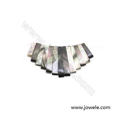 Focal  Natural Gray Mother-of-pearl Shell x 1piece  32x74mm  Hole 1mm