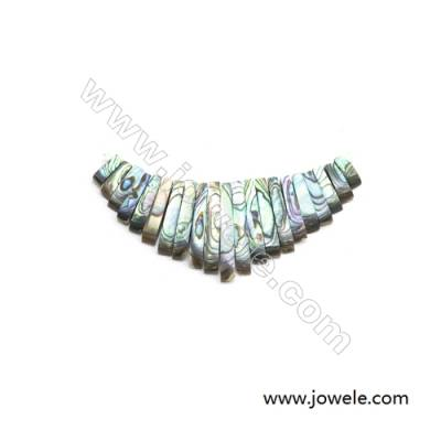 Natural Abalone Shell, Focal, x 1piece, 32x74mm, Hole 1mm