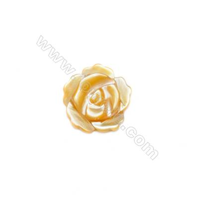 Wholesale yellow mother-of-pearl shell, 8mm, hole 1mm, 40pcs/pack